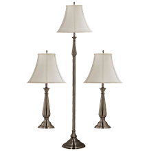 See Details - Banister - 3-Pack - 2 Table Lamps, 1 Floor Lamp