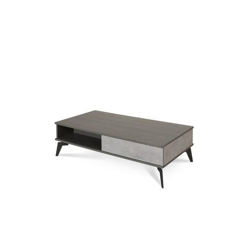Nova Domus Palermo Italian Modern Faux Concrete & Grey Coffee Table
