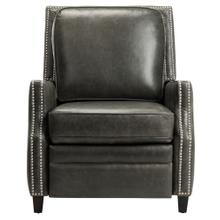 Buddy Leather Recliner - Aged Black