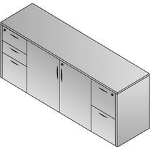 """Storage Credenza 2 Ctns 72 X 22 X 29""""- Slate Grey"""