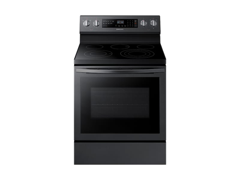 Samsung5.9 Cu. Ft. Freestanding Electric Range With True Convection In Black Stainless Steel