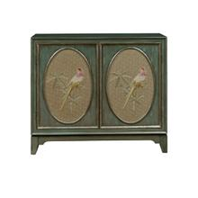 Isabelle Fabric Panel Bar Cabinet