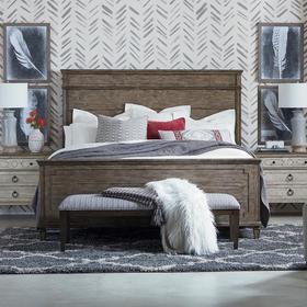 Verona King Panel Bed, Footboard High
