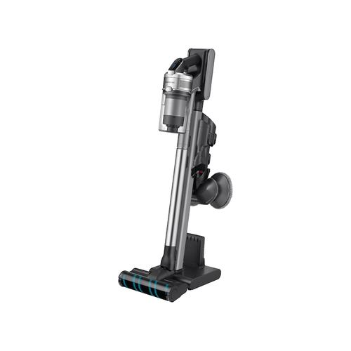 Samsung - Jet VS90 Stick Vacuum with Spinning Sweeper in Titan ChroMetal with removable Battery