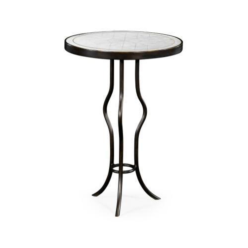 glomise & Bronze Iron Round Wine Table