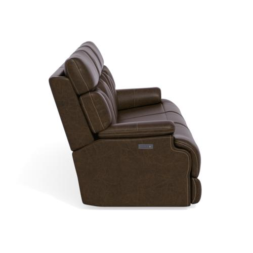 Flexsteel - Clive Power Reclining Sofa with Power Headrests and Lumbar