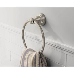 Banbury brushed nickel towel ring