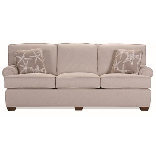 Lancer - Full length sofa with attached backs and no skirt
