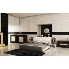 Modrest B1304 Modern White & Taupe Bonded Leather Bed