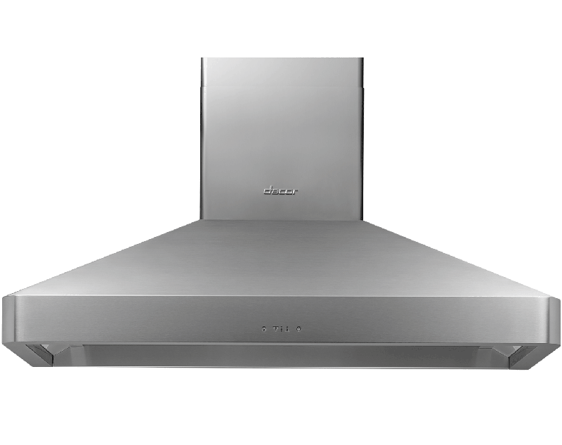 """48"""" Chimney Wall Hood, Silver Stainless Steel"""