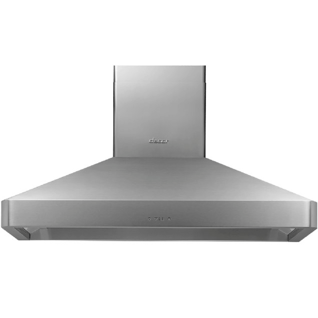 """Dacor 48"""" Chimney Wall Hood, Silver Stainless Steel"""