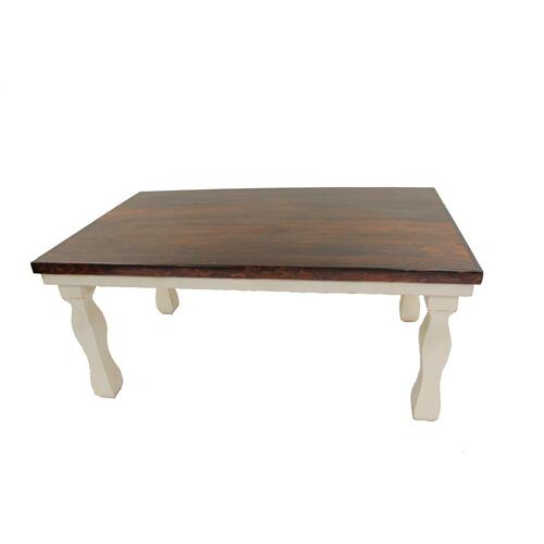 6' White/Walnut Rectangular Table
