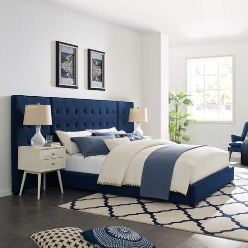 Modway - Sierra Queen Upholstered Fabric Platform Bed in Azure