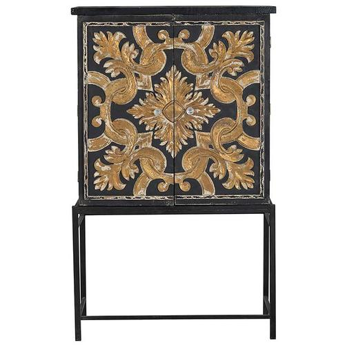 A & B Home - Arabesque Cabinet On Stand