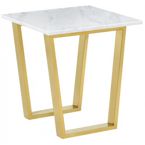 "Cameron Gold End Table - 20"" W x 20"" D x 22"" H"
