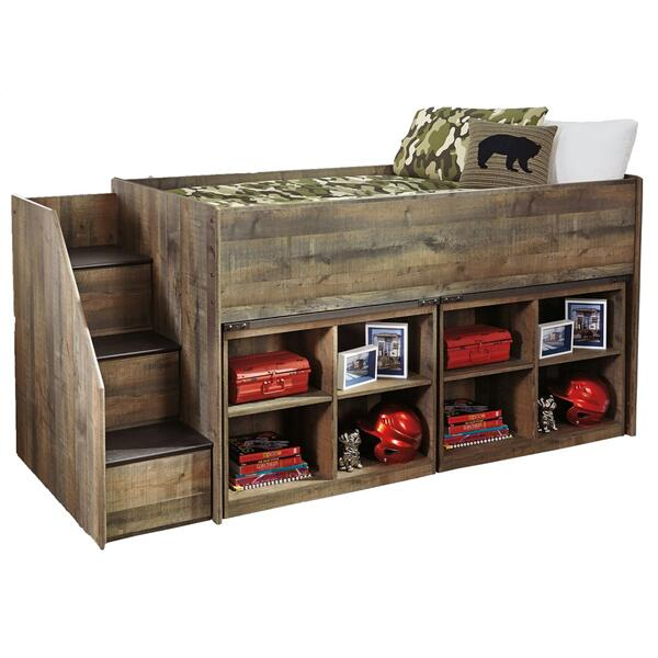 See Details - Trinell Twin Loft Bed With 2 Bookcases