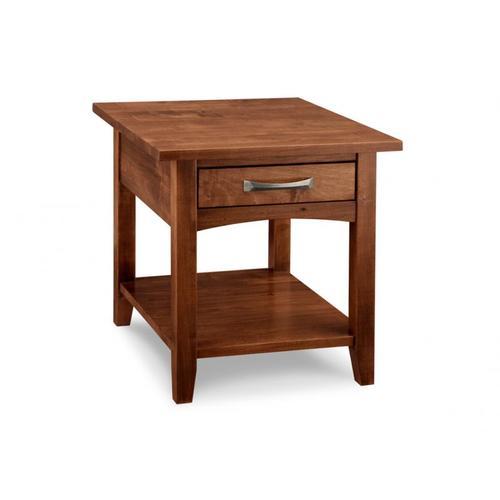 Handstone - Glengarry End Table w/dwr w/shelf