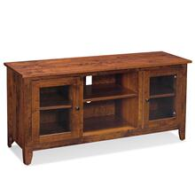 """See Details - Shenandoah TV Console with Glass Doors and Open Center, 54""""w x 18 """"d x 28 """"h"""