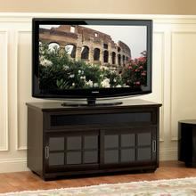 See Details - WAVS333 No Tools Assembly Deep Brown Wood A/V Cabinet fits most TVs up to 46 inches from Bell'O International Corp.