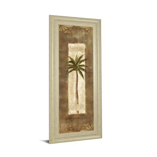 """Classy Art - """"Scroll Palm Il"""" By Carol Robinson Framed Print Wall Art"""
