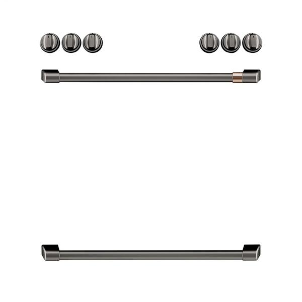 Café Front Control Electric Knobs and Handles - Brushed Black