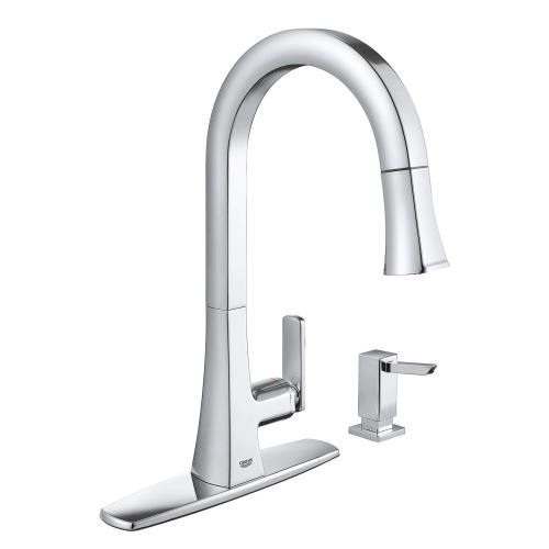 Carre Single-handle Pull Down Kitchen Faucet Dual Spray 1.75 Gpm