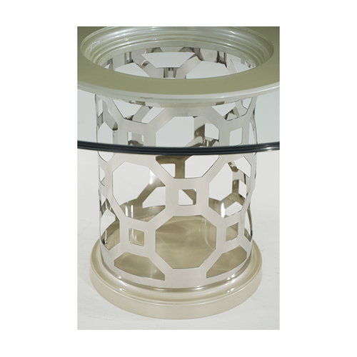 Pearl 60'' Round Glass Top Dining Table