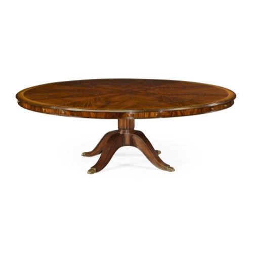 "66"" Mahogany extending circular dining/games table"
