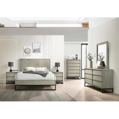 """Meridian Furniture - Weston Wood Mirror - 41"""" W x 1"""" D x 35"""" H"""