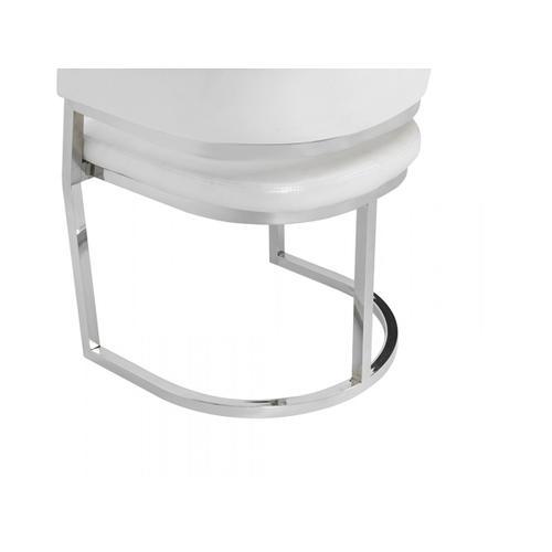 Modrest Tulsa Modern White Leatherette Dining Chair