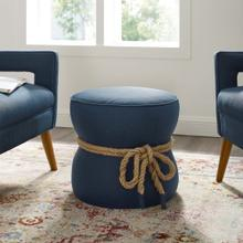 See Details - Beat Nautical Rope Upholstered Fabric Ottoman in Blue