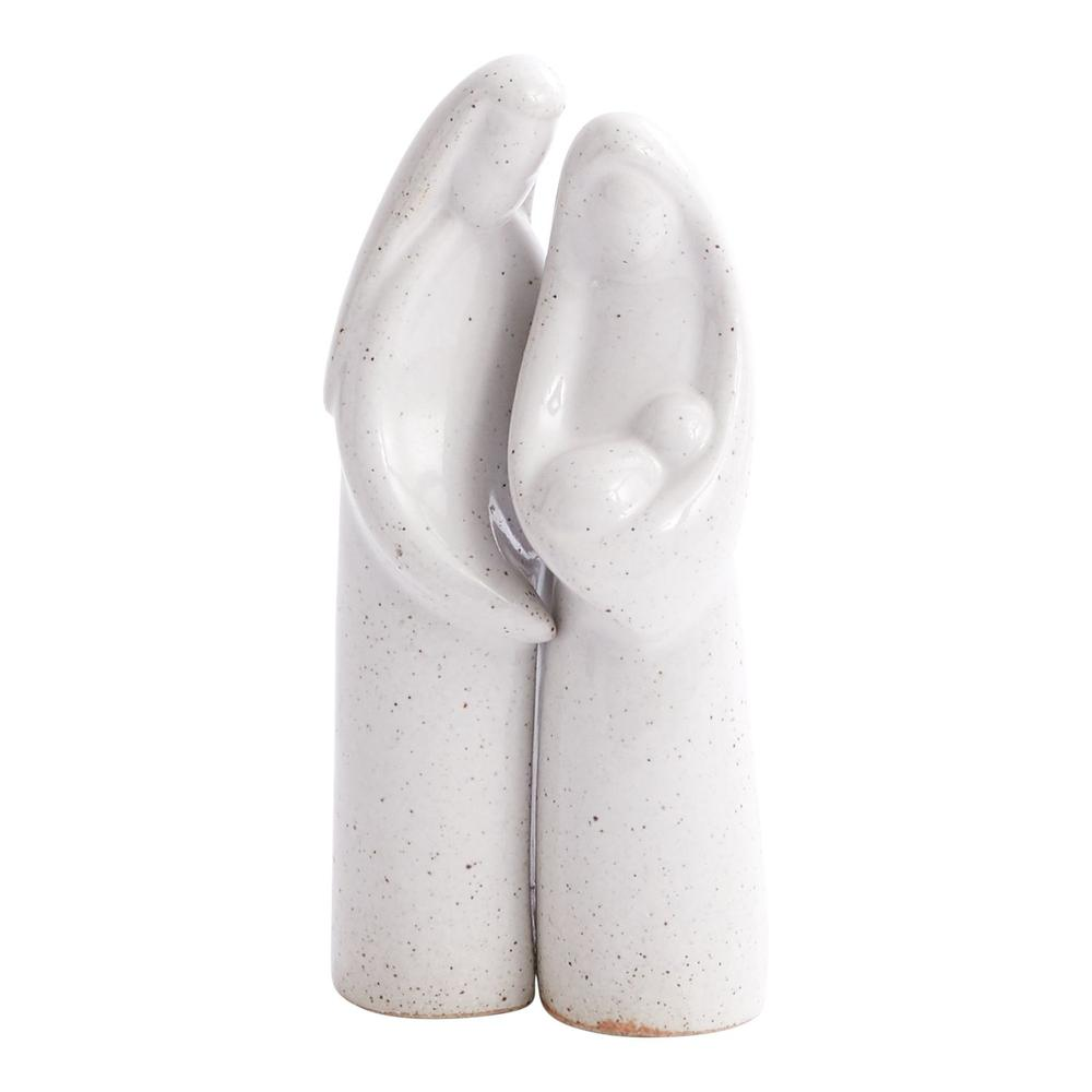 """See Details - Mary and Joseph Figurine (Size:2""""x 7"""", Color:Grey)"""