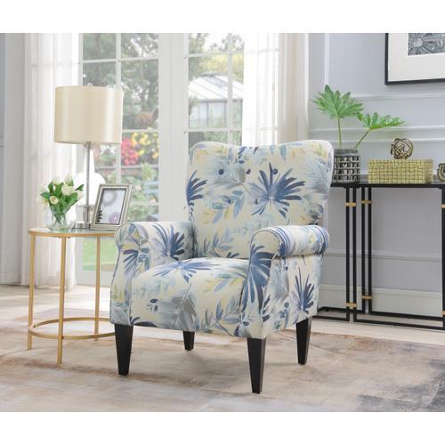 Lydia Accent Chair, Ocean Floral U3600-05-54