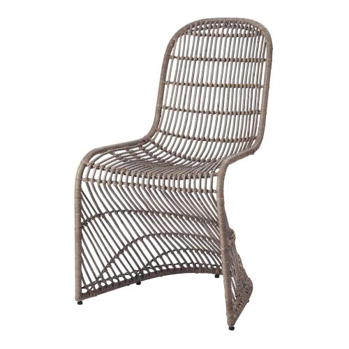 Product Image - Groovy Rattan Dining Side Chair, Gray