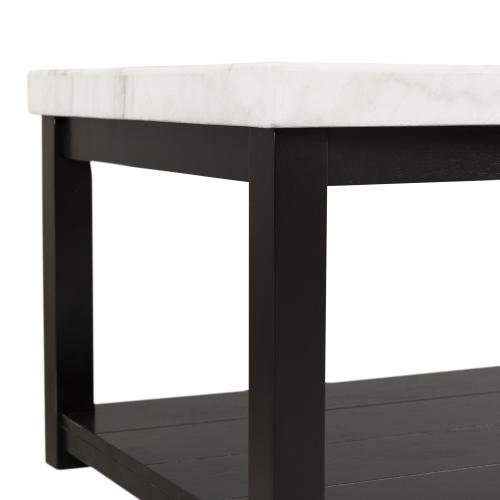 Elements - Marcello White Marble Square End Table