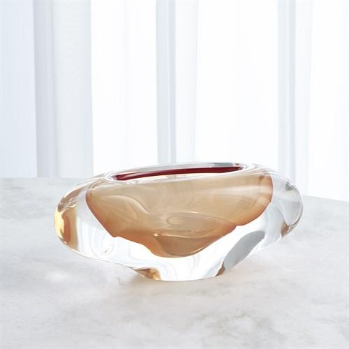 Abstract Bean Vase-Persimmon-Sm