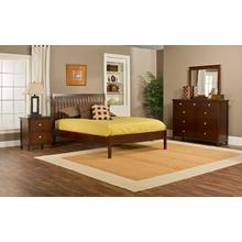 Metro 4pc Queen Cherry Bedroom with Liza Platform Bed
