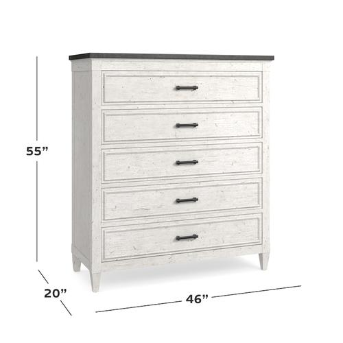 Bella Stone Top 5 Drawer Chest