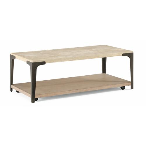 Flexsteel - Omni Rectangular Coffee Table with Casters