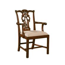MASSACHUSETTS AGED REGENCY ARM CHAIR