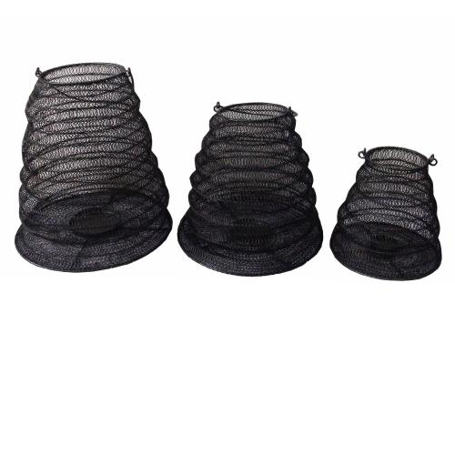 Crestview Collections - Mia Collapsable Metal Mesh Candle Holders,Set of 3