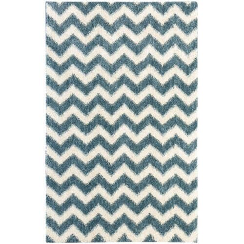 Mohawk - Stitched Chevron, Blue- Rectangle