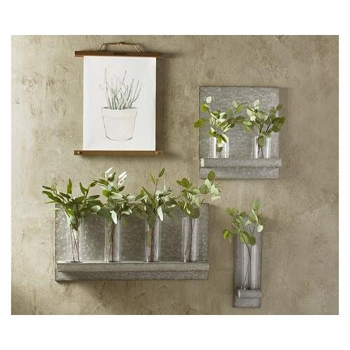 Metal Hanging Vase Sconce
