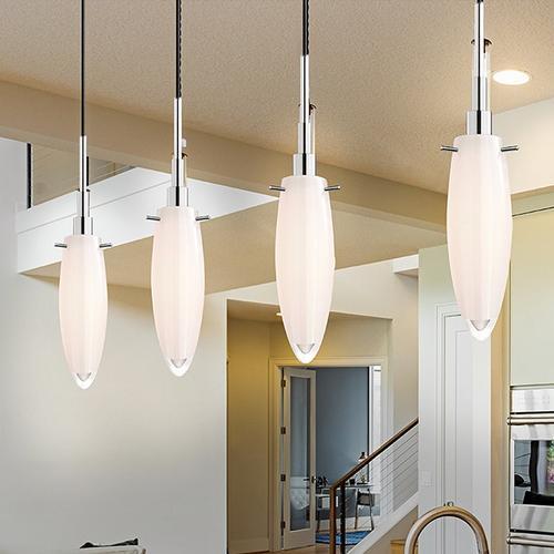 Sonneman - A Way of Light - Candela Pendant [Size=1-Light, Color/Finish=Polished Chrome, Shape=Cut Tulip]