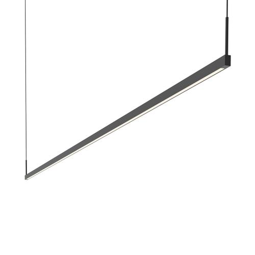 Sonneman - A Way of Light - Thin-Line LED Pendant [Size=8' Two-Sided, Color/Finish=Satin Black]