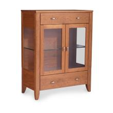 Justine 2-Door Dining Cabinet, 2 Doors with Wood Doors and Ends