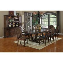 Emerald Home Castlegate Dining Table Pine Brown D942dc-10top