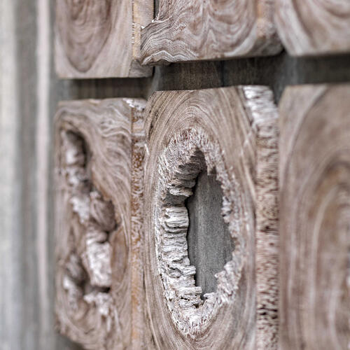 Bahati Wood Wall Art, S/9