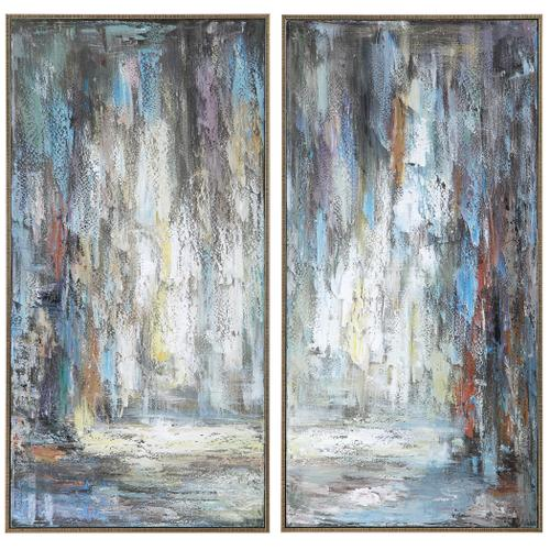 Artist's Palette Hand Painted Canvases, S/2