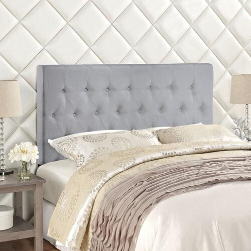Clique Full Upholstered Fabric Headboard in Sky Gray